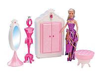 Мебель для куклы Gloria 1209  шкаф-гардероб,напольное зеркало, в кор,39*19*7,5  см.