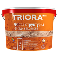Краска структурная, декоративная  ТМ «TRIORA» 15кг