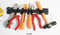 Набор инструментов 8968-7  клещи, плоскогубцы, молоток, отвертка, в сетке 14 см.