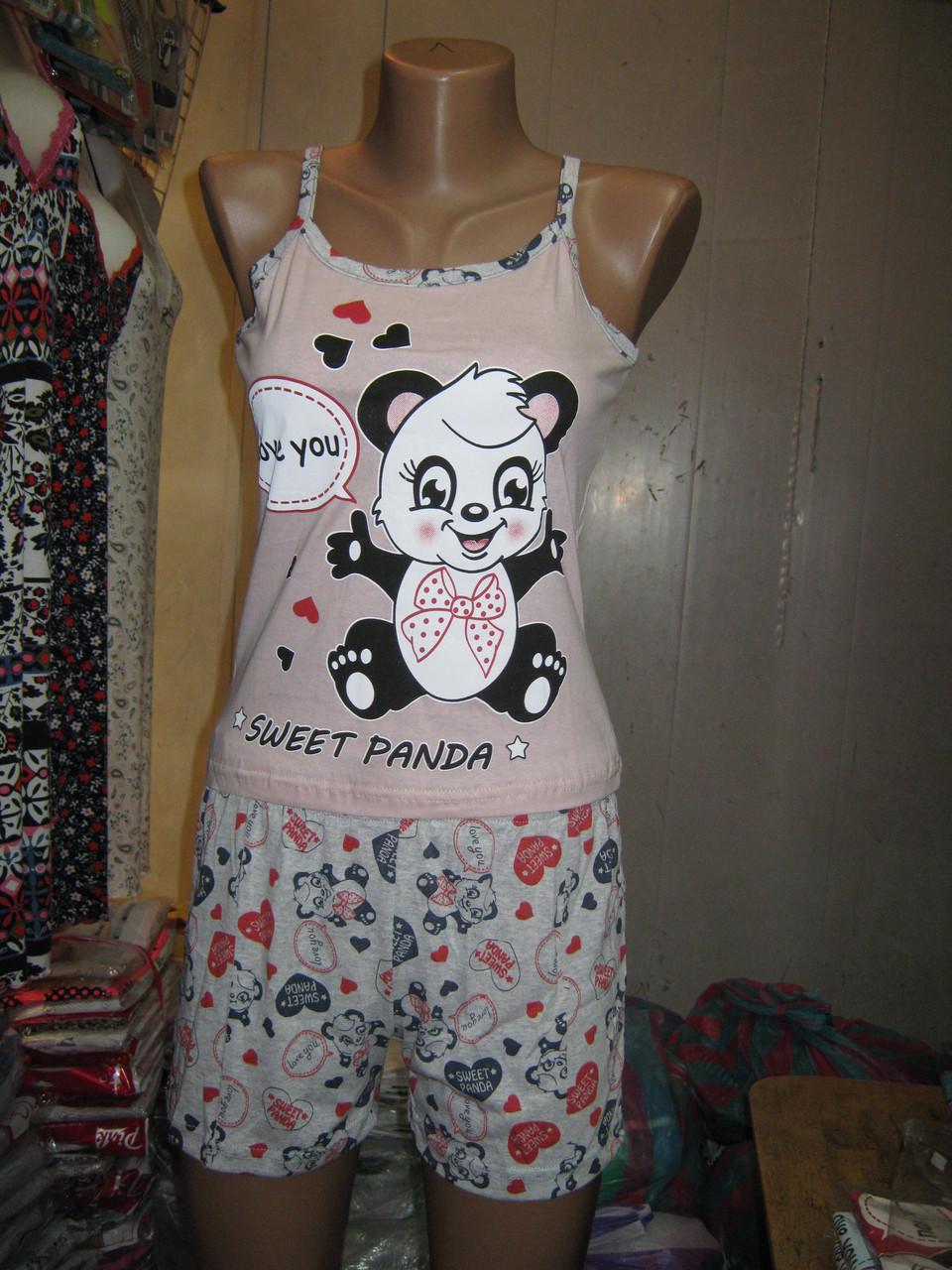 Пижама майка и шорты Blue Night Sweet Panda bf1231250b9b1