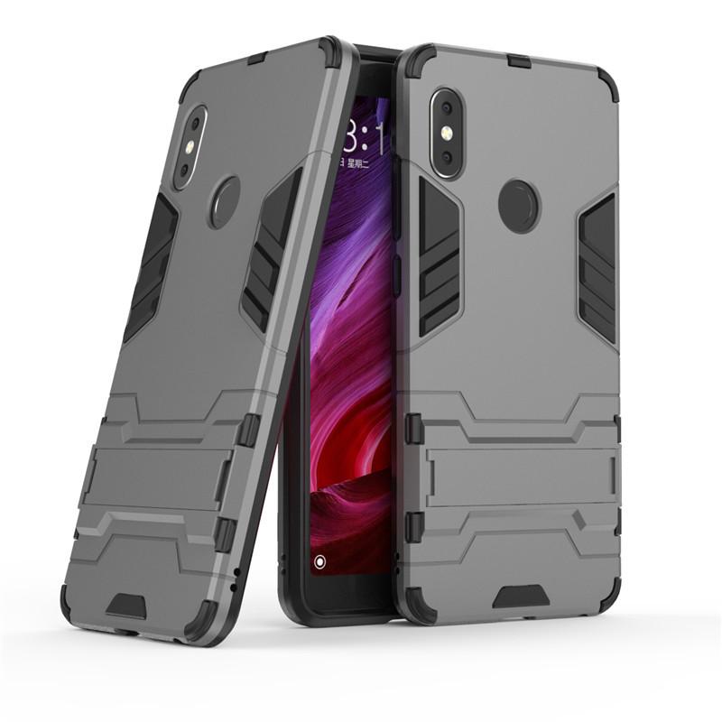 Чехол Iron для Xiaomi Redmi Note 5 / Note 5 Pro Global бронированный Бампер Броня Gray