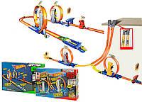 Трек для машинок детский  инерционная 5774/5775  2 вида в ящике, в коробке 56*7*36 см.
