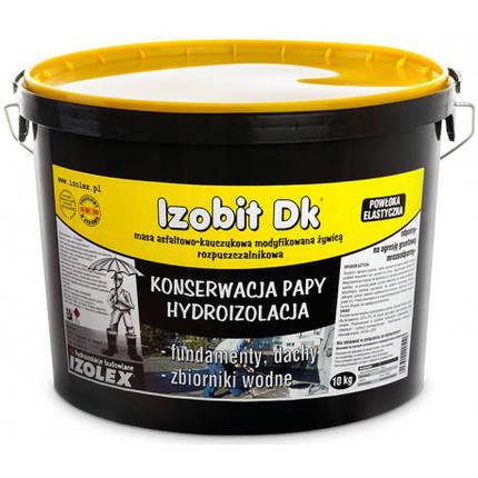 Бітумно-каучукова мастика Izolex IZOBIT DK 20 кг, фото 2