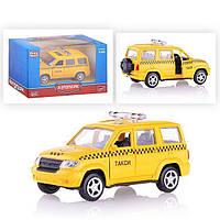 Игрушечная машинка модель джипа PLAY SMART 6403B Автопарк такси  металл  инерционная открываются  двери  коробке 12,5*5,7*7 ш.к./144/
