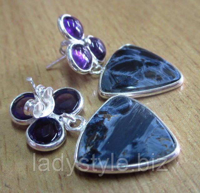 купить серебряный перстень кольцо рутиловый кварц волосатик украшения