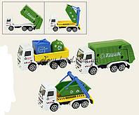 Игрушечная машинка металлическая 9803 мусоровоз, 3 вида в кор 11*6*5, 24 штук в дисплей боксе33*20*13 см.