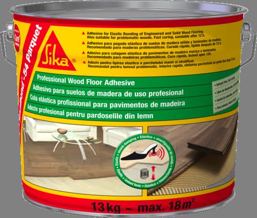 Эластичный клей для деревянных напольных покрытий SikaBond-54 Parquet 13 кг.
