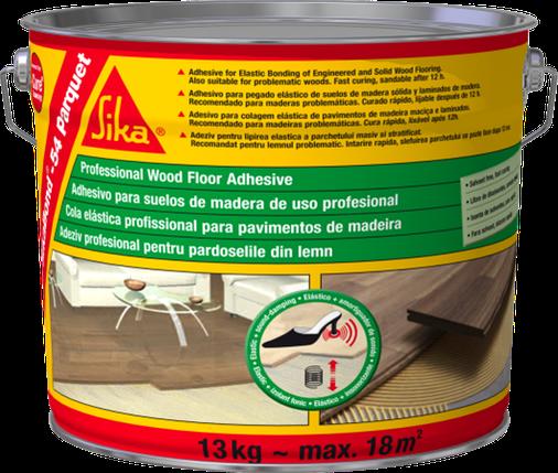 Эластичный клей для деревянных напольных покрытий SikaBond-54 Parquet 13 кг., фото 2