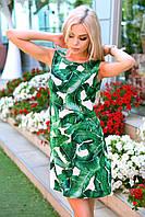 Женское легкое платье-трапеция с цветочным рисунком, фото 1