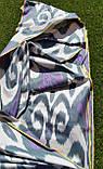 """Шелковая ткань в технике """"Икат"""" ручного ткачества. Маргилан, Узбекистан, фото 3"""