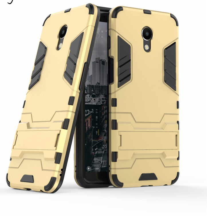 Чехол Бампер Броня для Meizu M6S бампер Gold