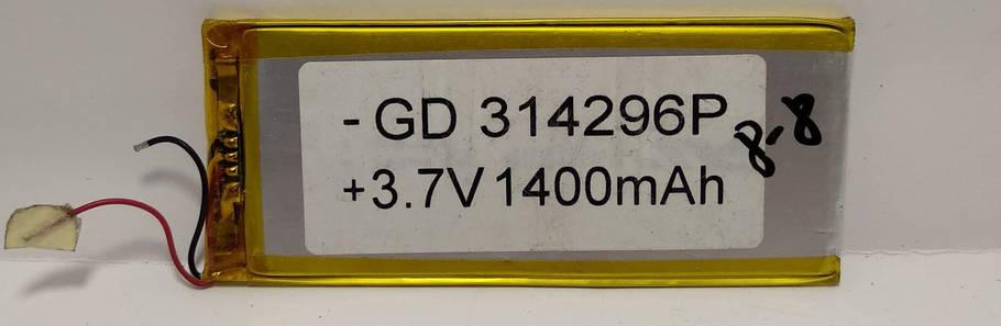 Аккумулятор -GD 314296P 1400mAh Li-ion + 3.7V, фото 2