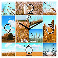 Часы настенные с символикой, логотипом Panorama (300x300 мм) [МДФ, Открытые]