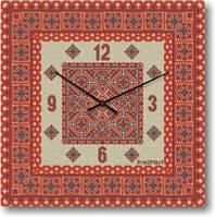 Настенные часы с логотипом компании, символикой Glass квадратные (300x300 мм) [Стекло, Открытые]