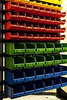 Cтеллажы для метизов с пластиковыми ящиками Комаргород стеллажи для магазина,торговые, фото 1
