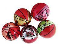 Мяч резиновый CL12-017  Баскетбол ассорти, 9 60g
