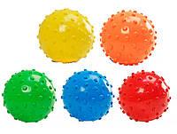 Мяч M01133 цвет ассорти,с шипами, резиновый,15 см. 70г