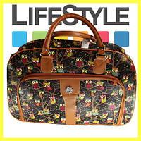 Оригинальная дорожная женская сумка с узорами совы, фото 1
