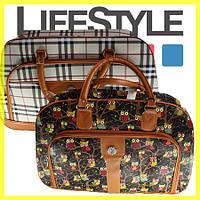 Оригинальная дорожная женская сумка с узорами (2 расцветки). Скидка −30%
