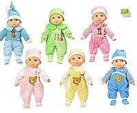 Пупс  музыкальная игрушка детская  Ляля 2014-12EMU  6 видов украинский язык , морг.глазки, в пакете 20*42 см.