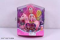 Кукла маленькая 66260 с лошадкой,расческой, волш палочкой, в коробке 19*16*6 см.