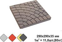 «ПАНЦИРЬ» тротуарная плитка вибролитьевая (под мрамор)