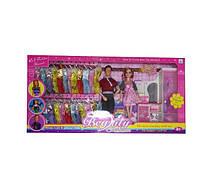 Кукла Барби 12825A  4 вида, с Кеном, набором платьев, мебелью, в коробке