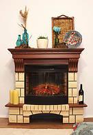 Каминокомплект Fireplace Великобританія з МДФ зі шпоном пісочний камінь ефект полум'я зі звуком