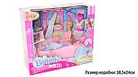 Кукла БарбиAnlily 99048 в ванной течет вода, полочки с аксесс д/купания, в коробке 38*14