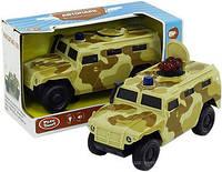 Джип PLAY SMART 9706B Автопарк воен. инерционная открываются люк, двери  , музыкальная игрушка детская свет.коробке 28,2*12,2*11,7 /36/