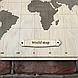 Карта світу з фанери, перфорована, декорована компасом 113*80 см, фото 3