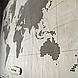 Карта світу з фанери, перфорована, декорована компасом 113*80 см, фото 4