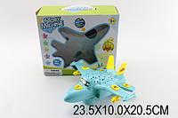 музыкальная игрушка детская самолетик J202 (1270987)   батарейки , музыкальная игрушка детская  проектор,едет, в коробке  23,5*10*20,5 см.