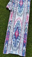 """Хлопковая ткань с декором в технике """"Икат"""" ручного ткачества. Маргилан, Узбекистан, фото 1"""