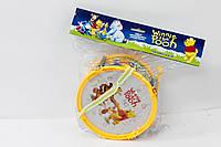 Барабан музыкальная игрушка  6610-11 Винни Пух в пакете 17*10 см.