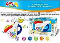 Дудка EG 80052 R BAMBINI-4,саксофон, музыкальная игрушка детская  свет, на бат-ке,в кор-ке,22-21-15 см.