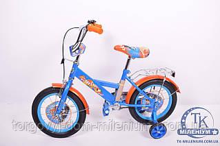 Велосипед 2-х колёсный (звонок, зеркало, ручные тормоза, 14) 181409