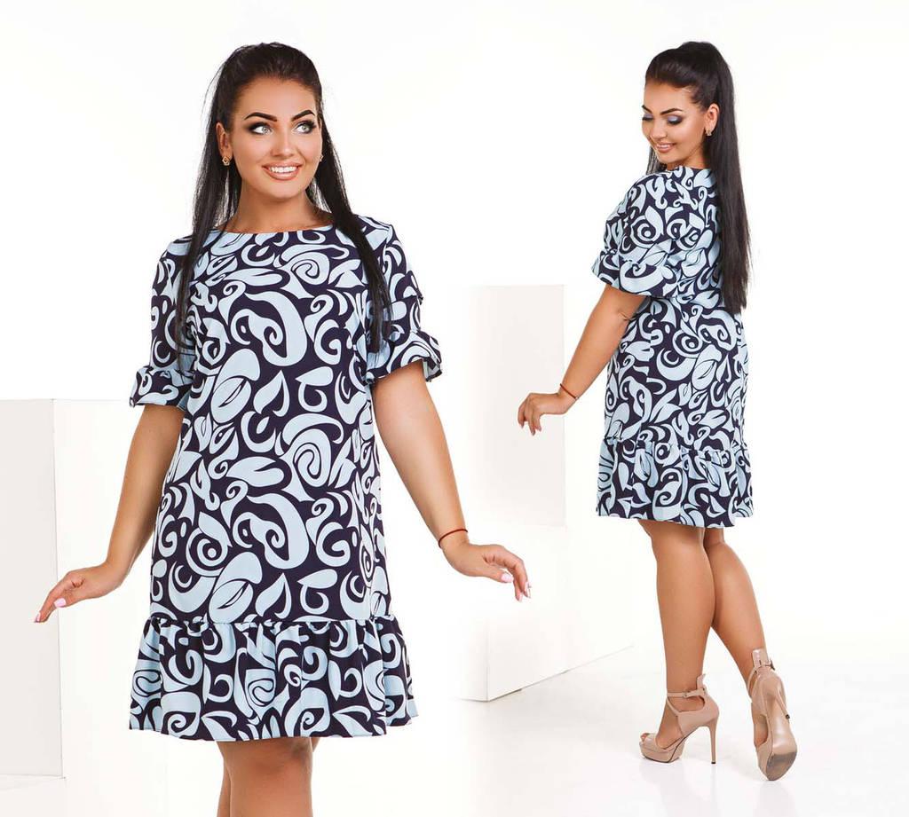 54892dbc3691 Стильное женское платье в больших размерах 4132