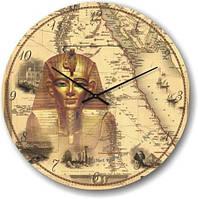 """Часы настенные модерн """"Сфинкс, египет"""" [Стекло, Открытые]"""