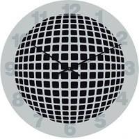"""Оригинальные настенные часы """"Абстракция, серые"""" (300мм)  серые PraGMart-240-300 [Стекло, Открытые]"""