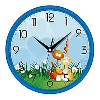 Настенные часы в детскую комнату 300Х300Х45мм [Пластик, Под стеклом] UTA-01-BL-19 синие