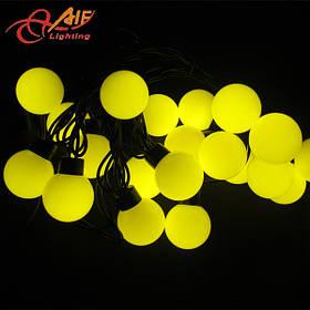 Гирлянда Шарики 50 LED Жёлтый 10 метров