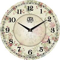 """Настенные часы в стиле прованс 330Х330Х30мм """"Нежность"""" [МДФ, Открытые] UTA-019-VP белые"""