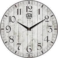"""Часы интерьерные винтаж 330Х330Х30мм """"Прованс"""" [МДФ, Открытые] UTA-057-VP серые"""