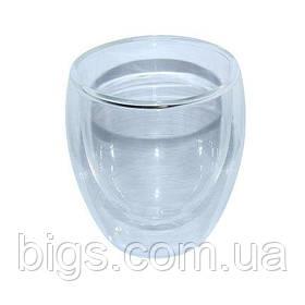 Пиала двойное стекло Любимый чай 250 мл ( стеклянные стаканы )