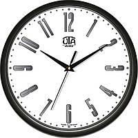 Настенные офисные часы 300Х300Х45мм [Пластик, Под стеклом] UTA-01-B-12 черные