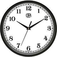 Офисные настенные часы 300Х300Х45мм [Пластик, Под стеклом] UTA-01-B-41 черные