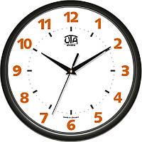 Настенные офисные часы 300Х300Х45мм [Пластик, Под стеклом] UTA-01-B-76 черные