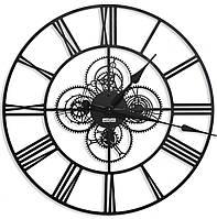 Часы настенные лофт большие дизайнерские Weiser WARSZAWA [Металл, Открытые]