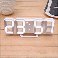 Часы настенные / настольные электронные цифровые светящиеля светодиодные белый+белый (Пластик, LED) Best Time